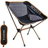 DEIJYUN アウトドア チェア キャンプ 椅子 折り畳み コンパクトチェア 丈夫アルミ合金&軽量 コンパクト 収納バッグ付き 耐荷重120kg 組み立て簡単