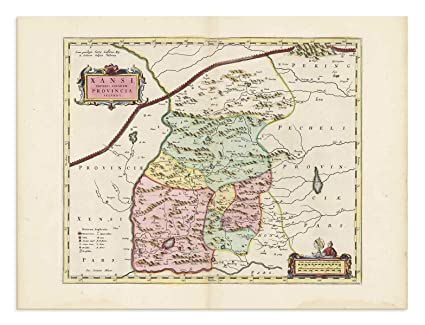 Shanxi China Map.Amazon Com The Blaeu Prints Baynnur China Shanxi Sheng