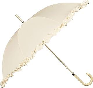 BOLERO OMBRELLI - Ombrello da Pioggia Lungo classico da Sposa adatto per il tuo Matrimonio - apertura Manuale - Tessuto Pongee con Ruffle