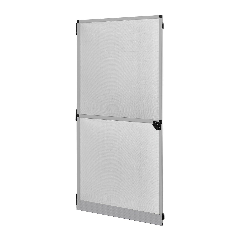 JAROLIFT Profi Line Moustiquaire avec cadre rotatif, moustiquaire pour porte, 120 x 220 cm, blanc