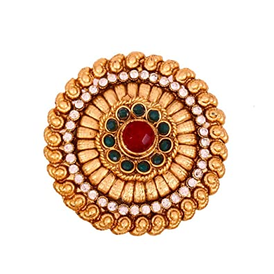 b6e7420e8 Buy Vama Fashions Polki & kundan Saree Pin Online at Low Prices in India |  Amazon Jewellery Store - Amazon.in