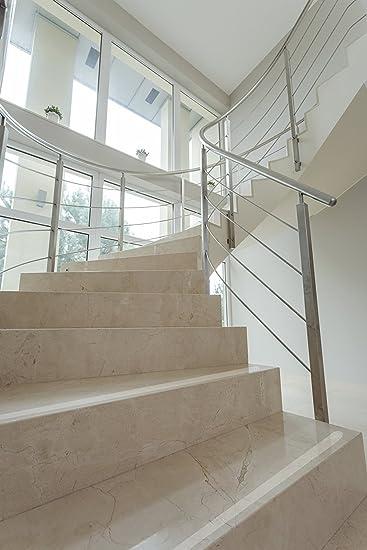 Tiras Antideslizantes para Escaleras, transparentes, relieve, goma, aprox. 60 cm, también para perro + niño en