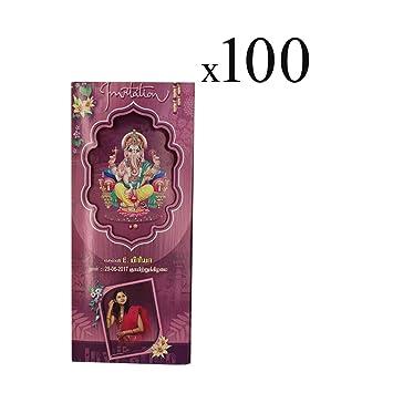 Thangam Puberty Function Invitation Card with Ganesha Design