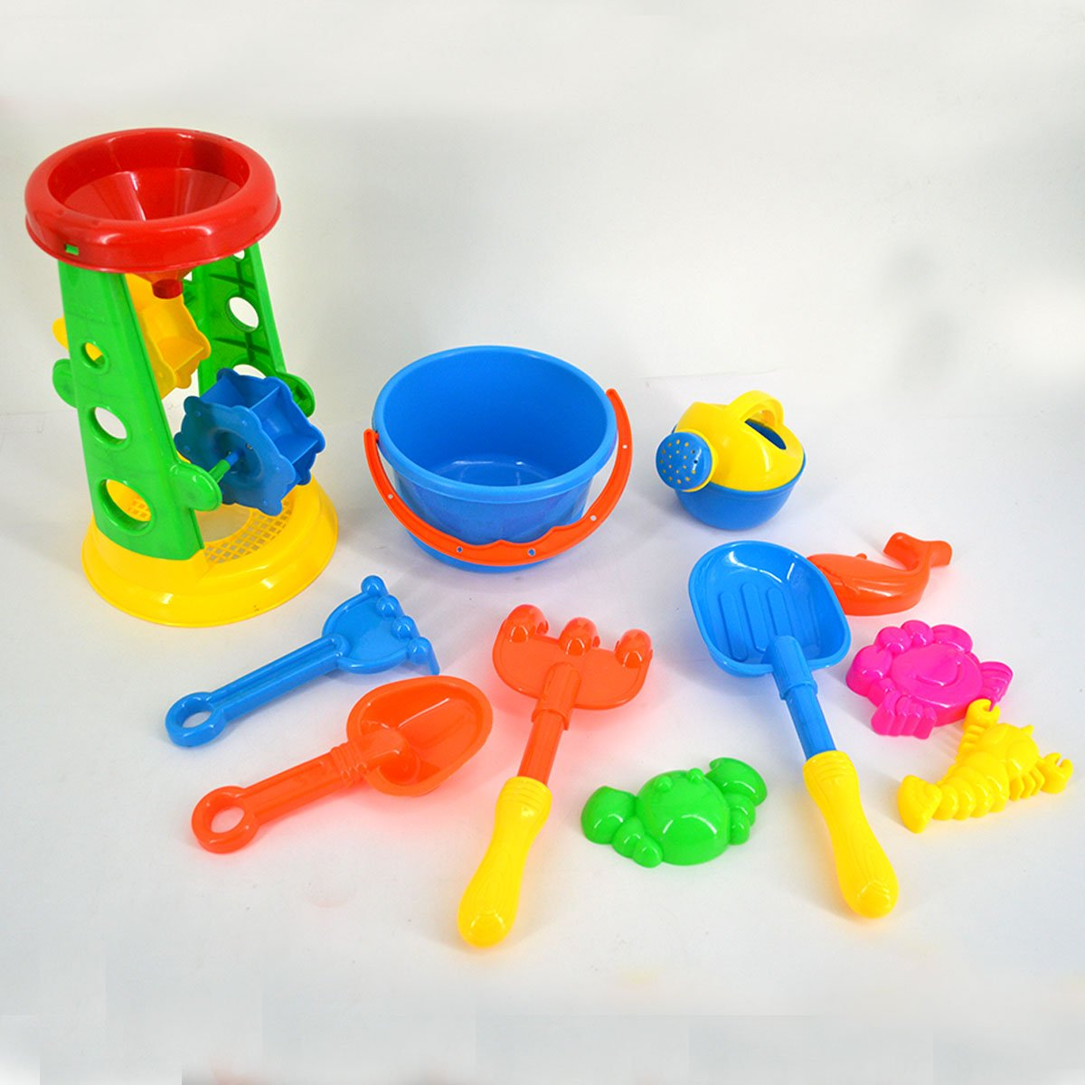 Supply 25 Pcs Sand Toys Plastic Creative Sand Dredging Castle Bucket Sandbox Beach Toys Sand Toy For Boys Girls Latest Technology Beach/sand Toys