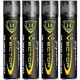 Vector KGM Vector 14x Filtered Premium Refined Fuel Butane Gas Refill (320mL) 4 Cans