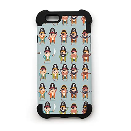 Amazon.com: Plano Barco Pirata figura iconos iPhone 7 iPhone ...