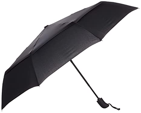 70eeef37af39e Amazon.com: AmazonBasics Automatic Travel Small Compact Umbrella With Wind  Vent - Black