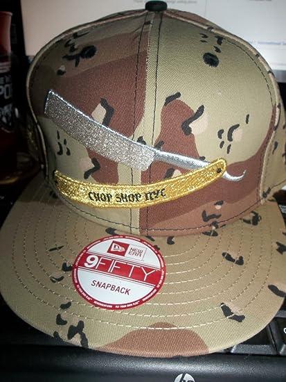 Amazon.com  Frank s Chop Shop NYC Camo Razor Snapback New Era Army FlatBill  Brim Cap Hat Lid  Sports   Outdoors 431ce433d30