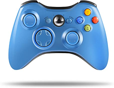 PC Windows 7,8,10 Blue 2.4GHZ Game Remote Controller Joystick Gamepad for Xbox 360 Console Wireless Controller for Xbox 360