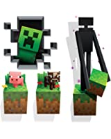 Amazoncom Minecraft Digging Steve Wall Cling Decal Home Kitchen - 3d minecraft wall decals