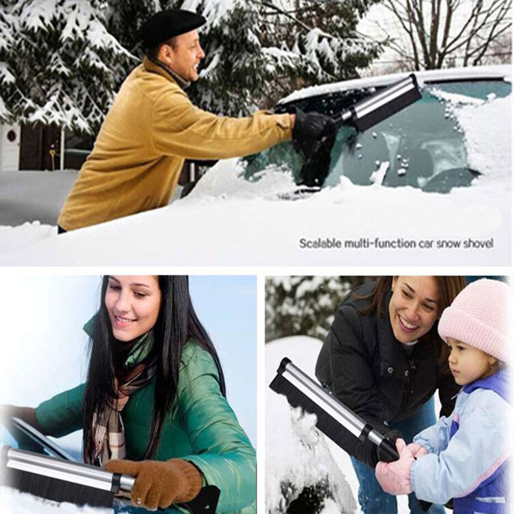 Extends from 17 to 24 KOVOT Telescoping Ice Scraper and Snow Brush