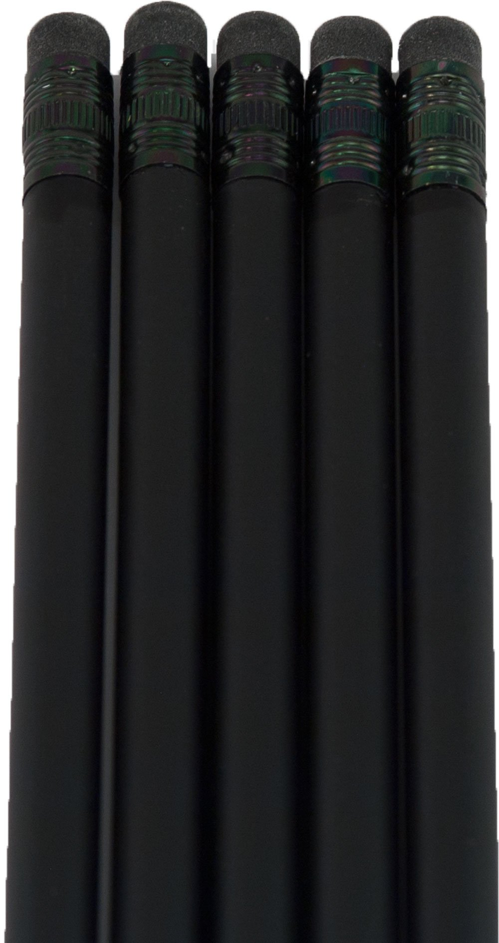 Ultra Premium Matte Black Pencil (Black Wood Matte Black with Black Eraser)(#2HB Lead) (Matte Black)(Bag of 36) by Graphite Pen & Pencil Company (Image #3)
