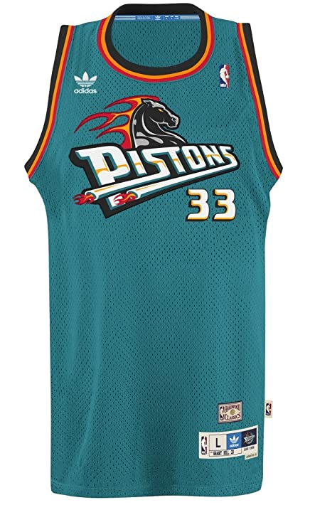 ... Grant Hill Detroit Pistons Adidas NBA Throwback Swingman Jersey - Teal  ... 67b742b07
