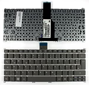 Acer Aspire S3-391-9606 Keyboards4Laptops German Layout Grey Laptop Keyboard Compatible With Acer Aspire S3-391-73534G52add Acer Aspire S3-951-2464G24iss Acer Aspire S3-951 Acer Aspire S3-951-2464