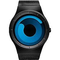 MICACCHI Harbour Analogue Blue Unique Dial Ultra Platform Metal Black Belt Men's Watch