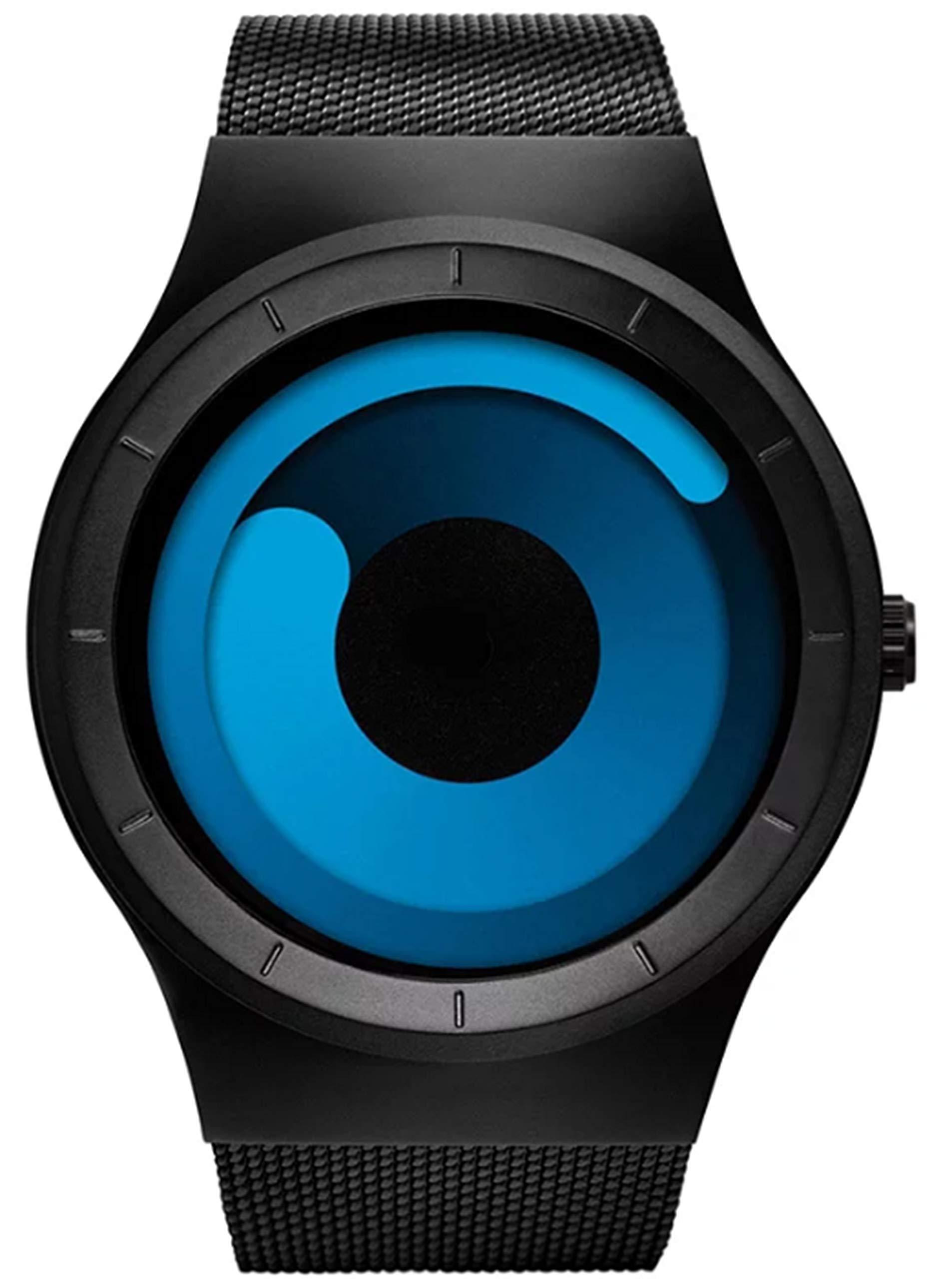 MICACCHI Harbour Analogue Blue Unique Dial Ultra Platform Metal Black Belt Men's Watch product image