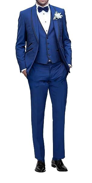 6ea21fb2a9 Suit Me Uomo Abito 3 parti vestito dello sposo festa di nozze si adatta  smoking giacca, gilet, pantaloni
