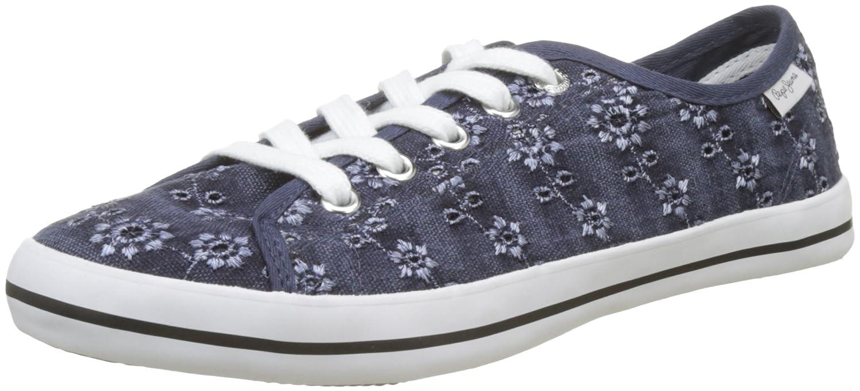 Pepe Jeans Gery Anglaise, Zapatillas Mujer 36 EU|Azul (Naval Blue)