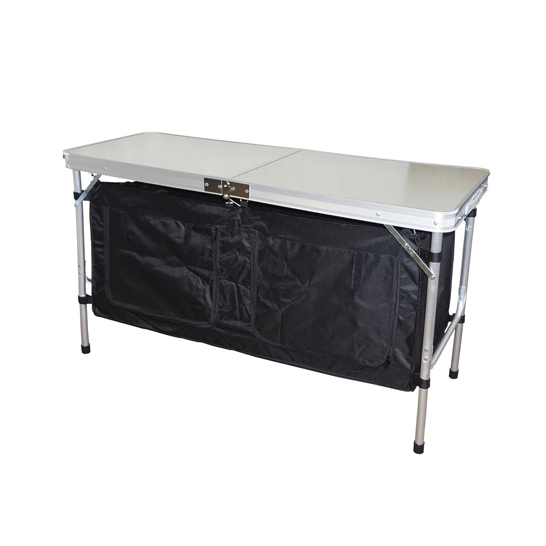 Hosa - Mueble Cocina Armario Plegable Bajo Mesa Maleta 2 Estantes ...