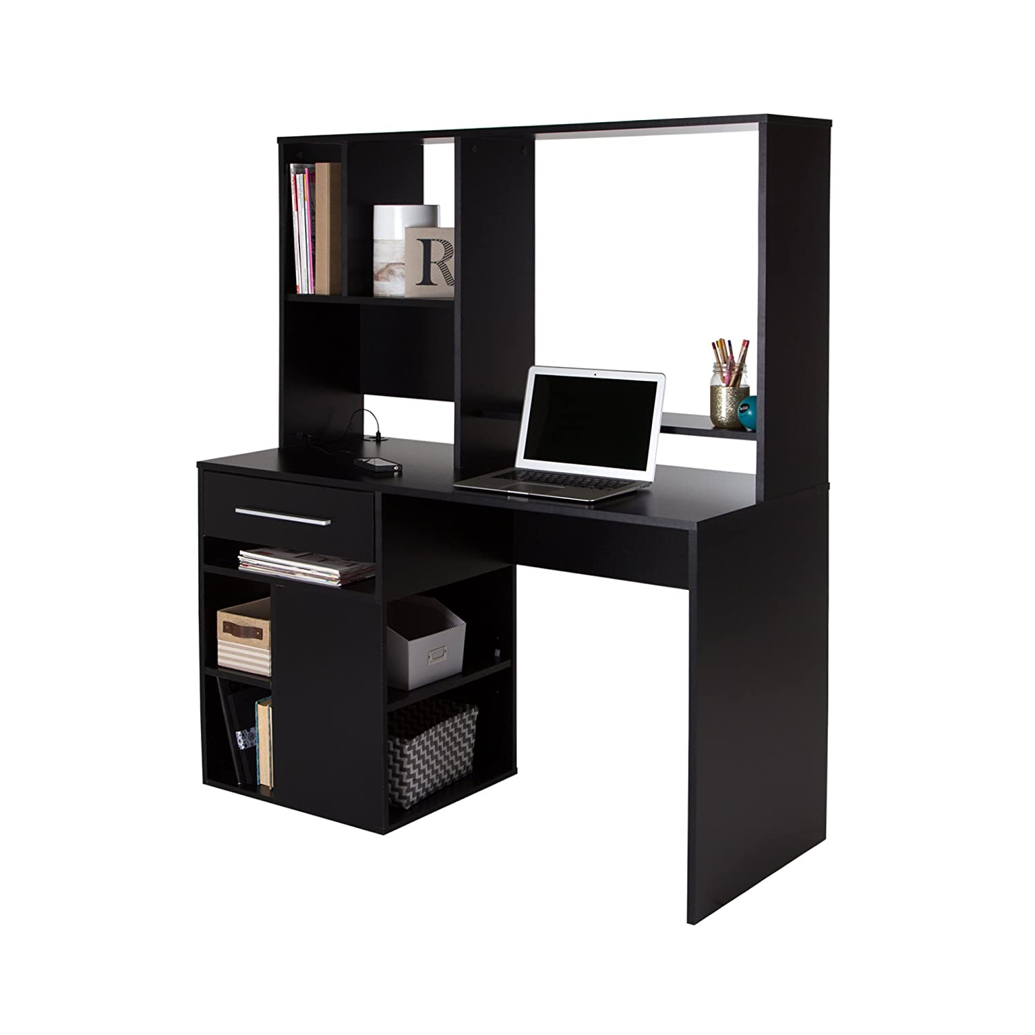 Beautiful Amazon.com: South Shore Annexe Home Office Computer Desk, Pure Black:  Kitchen U0026 Dining