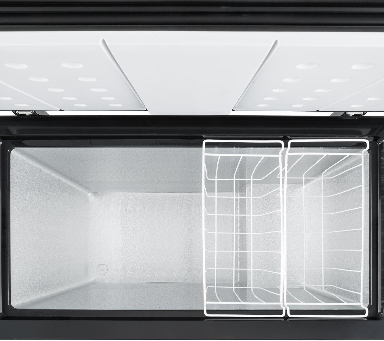 Klarstein Iceblokk 200 - Congelador Horizontal, 200 L, Eficiencia A++, 42 dB, Control de Temperatura, Ruedecillas, Independientes, 2 cestas Colgantes, 1 x raspador de Hielo, Negro: Amazon.es: Grandes electrodomésticos