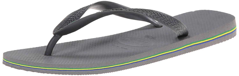 Havaianas Mens Brazil Flip Flop Steel Grey 43/44 BR 10/11 M US
