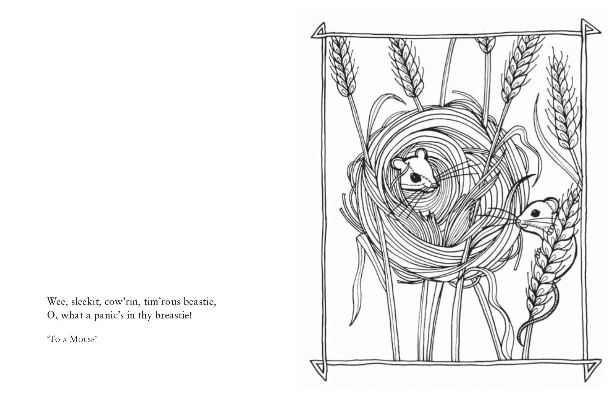 the wee book of colouring beautiful images inspired by the poetry