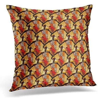 Amazon Throw Pillow Cover African Art Earth Tones Neutral Enchanting Earth Tone Decorative Pillows