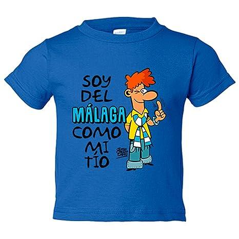 Camiseta niño soy del Málaga como mi tío Jorge Crespo Cano - Azul Royal, 3