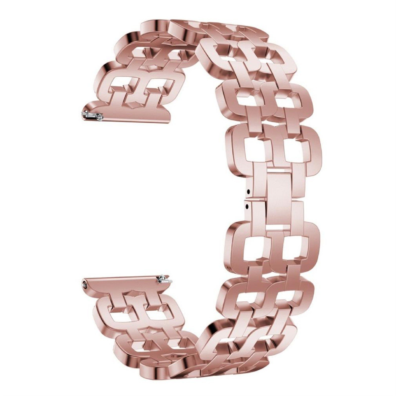 Owill Stainless Steel Durable Chain Style Bracelet Smart Watch Band Strap For Samsung Gear S3, Band Length about 179mm (Pink)
