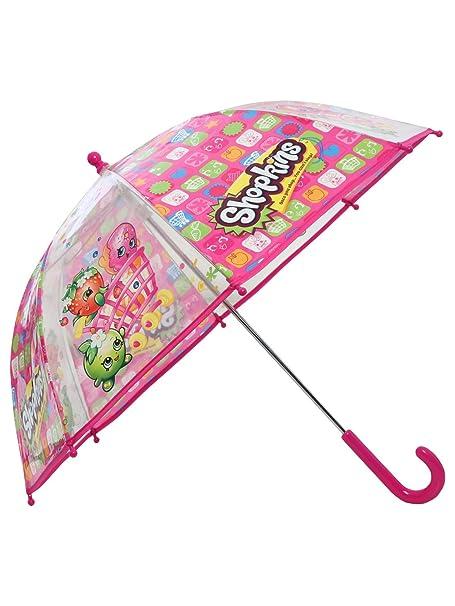 Shopkins Kids Rosa carácter Logo Print ver a través de burbuja paraguas rosa rosa Talla única: Amazon.es: Ropa y accesorios