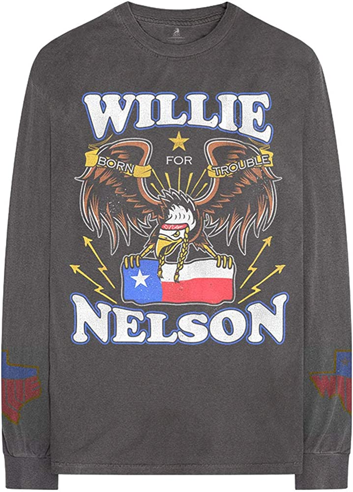 Rock Off Longsleeve Willie Nelson Texan Pride Oficial Camiseta para Hombre (Small): Amazon.es: Ropa y accesorios