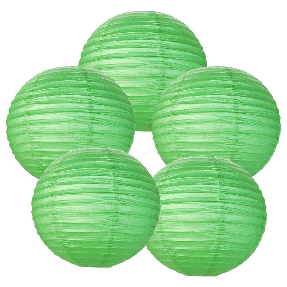 Just Artifacts ペーパーランタン5点セット - (6インチ - 24インチ) 12inch AMZ-RPL5-120029 B01CEX9GE6 12inch|グリーン グリーン 12inch