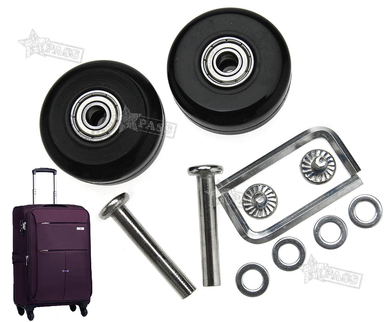 Generic E faciles /à kit de vis Se Replacem essieux Deluxe Air essieux 2/pcs 40/mm Bagages Acement W Valise de Remplacement M Bagages Roues r/éparation M Lugga
