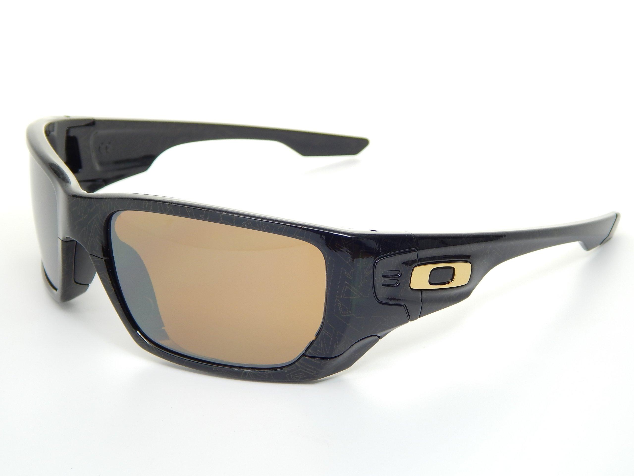 Oakley SS 9194-05 Black/Gold Ghost Text/Tungsten Iridium & Black Iridium Sunglasses by Oakley