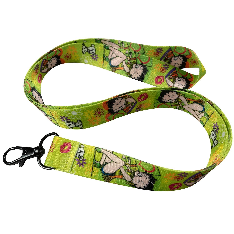 Betty Boop - Cordón para llavero, color verde y negro ...