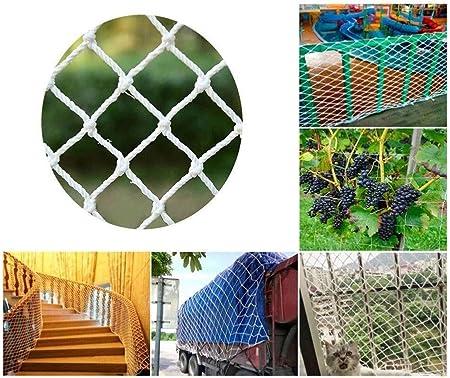 Red de seguridad para niños, Red de valla de jardín, Gato escalera balcón red anticaída, Red de escalada para parques infantiles, Techo decoración neta, Diámetro de cuerda 6MM malla 5CM, Multi-size pu: