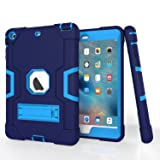 iPad Mini Case, Mini 2 Case, Mini 3 Case, Rugged Kickstand Series - Shockproof Heavy Duty Hybrid Three Layer Armor Defender K