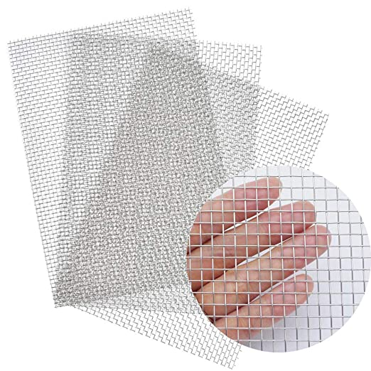 30cmX90cm Air Ventilation Protecting Mesh for Metal Security Guard Garden Screen Cabinets Zomine 5 Mesh 304 Stainless Steel Woven Wire-12X36