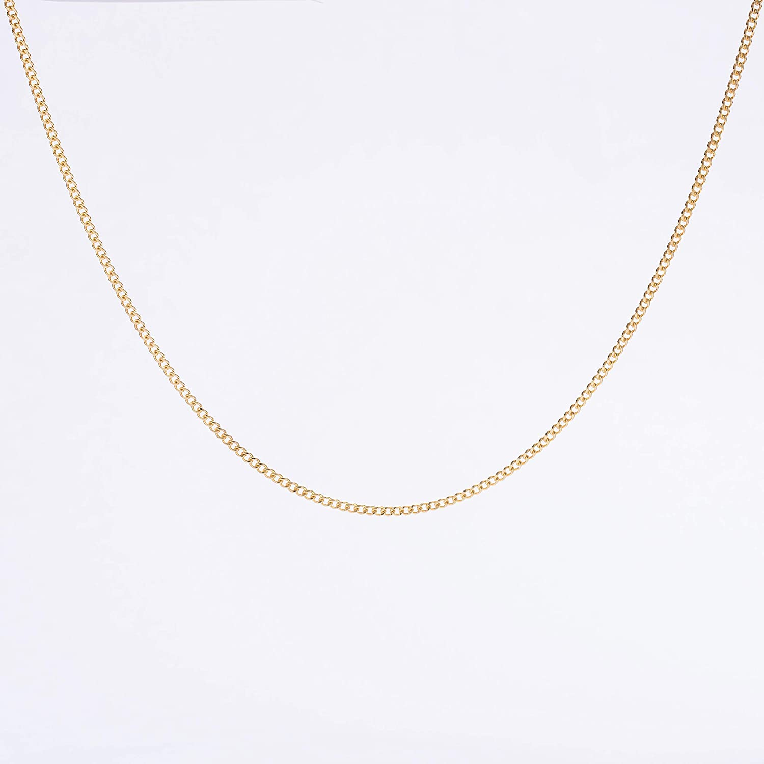 Amazon Com Graceful Rings Gix Minimalist Necklaces For Womens Choker Dainty Necklaces Silver Chain Minimalist Jewelry Cheap Simple Thick Short Gold Plated Chain Necklace Styles Gan0009 G Handmade