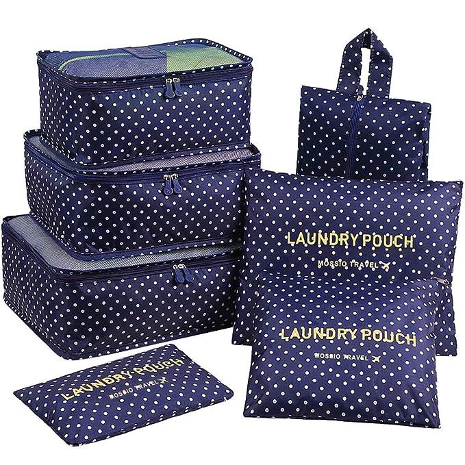 Amazon.com: Mossio - Juego de 7 cubos de embalaje con bolsa ...