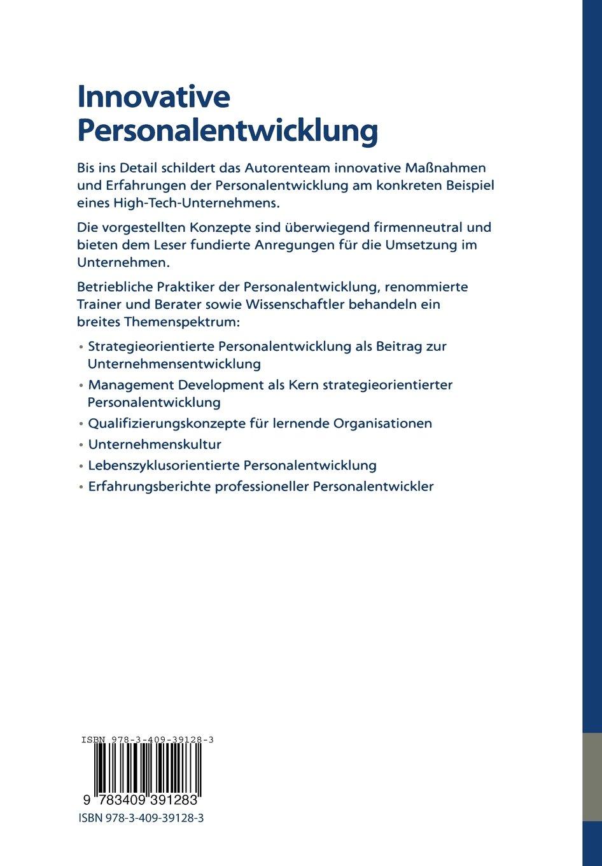 innovative personalentwicklung grundlagen konzepte erfahrungen thomas sattelberger amazonde bcher - Personalentwicklungskonzept Beispiel