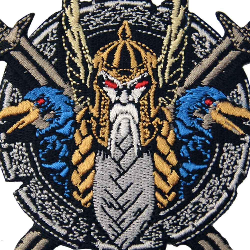 The God of War Odin Patch Embroidered Applique Badge Iron On Sew On Emblem
