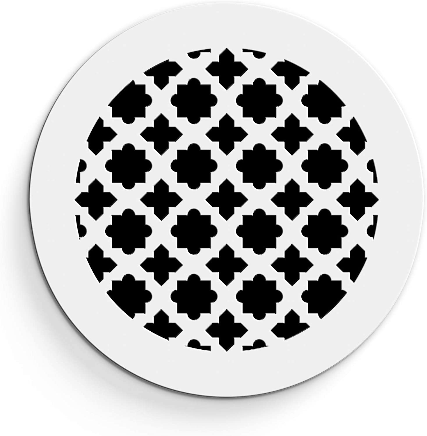 "Saba Air Vent Cover Grille - Acrylic Plexiglass 10"" Round Duct Opening (12"" Round Overall) White Finish Decorative Register Covers for Walls and Ceilings NOT for Floor USE, Venetian (1PCs)"