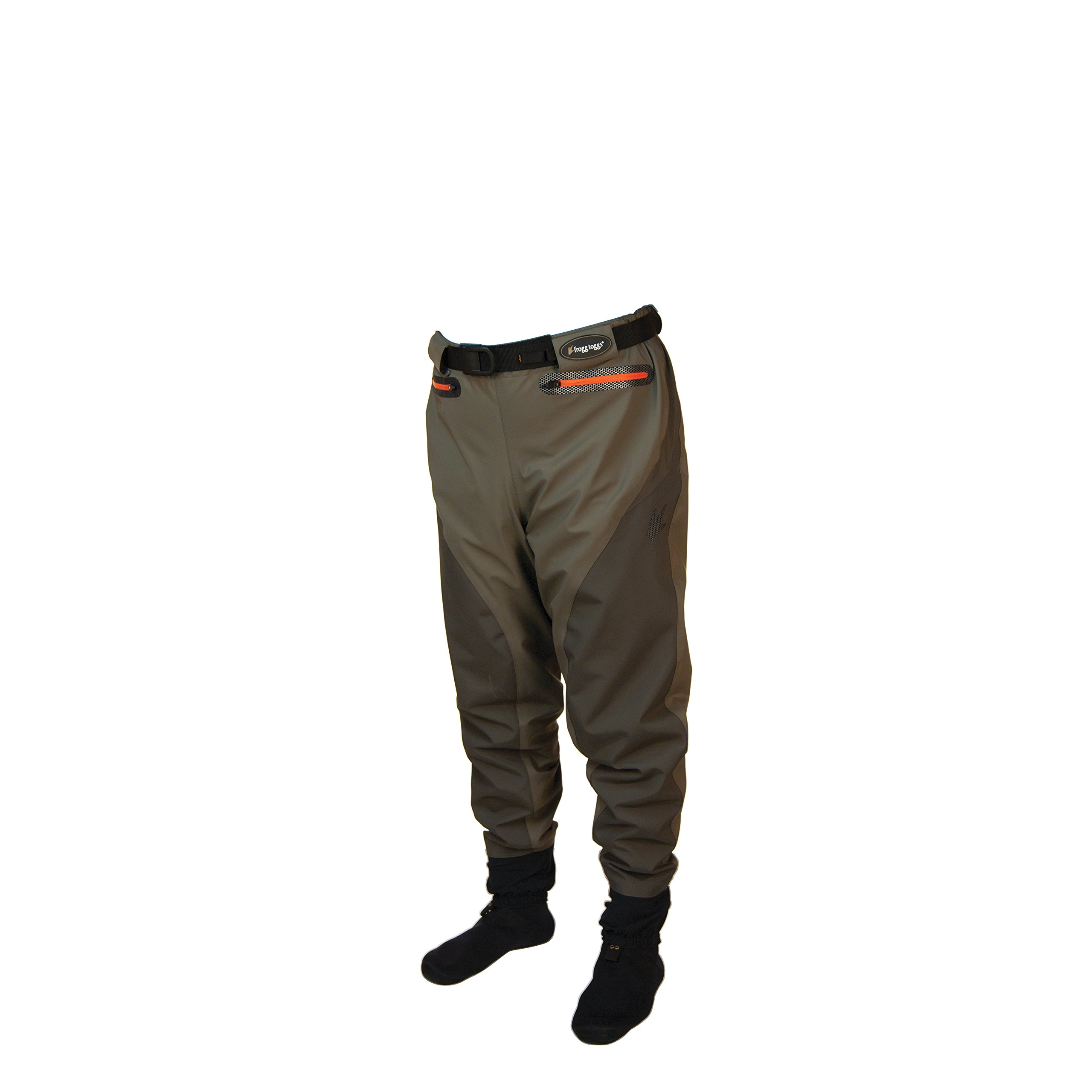 Frogg Toggs Pilot II Breathable Stocking Foot Guide Pants, Small, Stone/Taupe