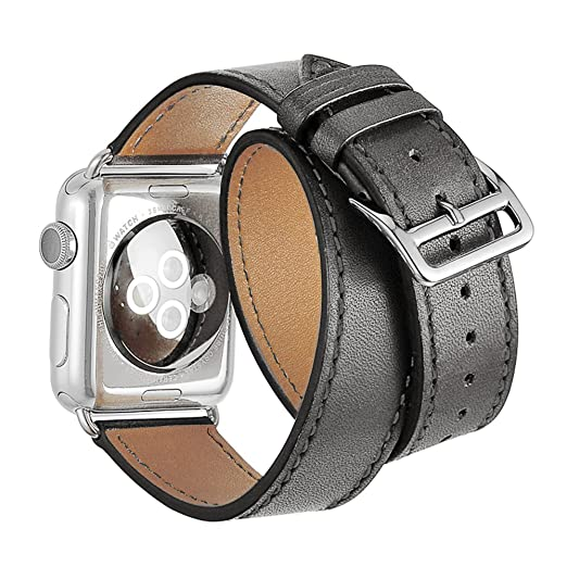 41 opinioni per Cinturino Apple Watch,SUNDAREE 42mm Apple Bracciale Vera Pelle Strap Wrist Band