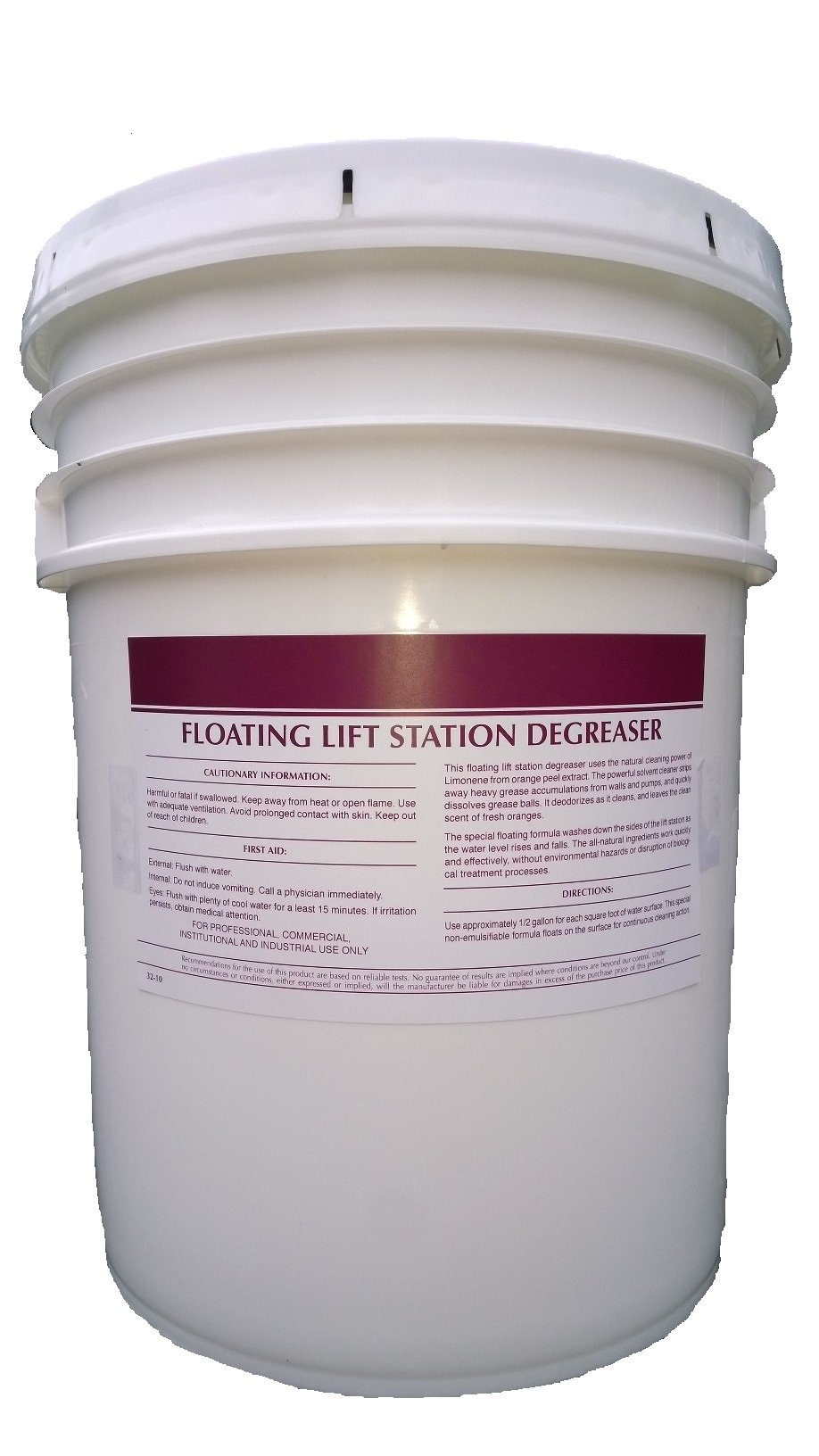 Patriot Chemical Sales 5 Gallon Pail Citrus Liquid Floating Lift Station Degreaser All Purpose Industrial Strength