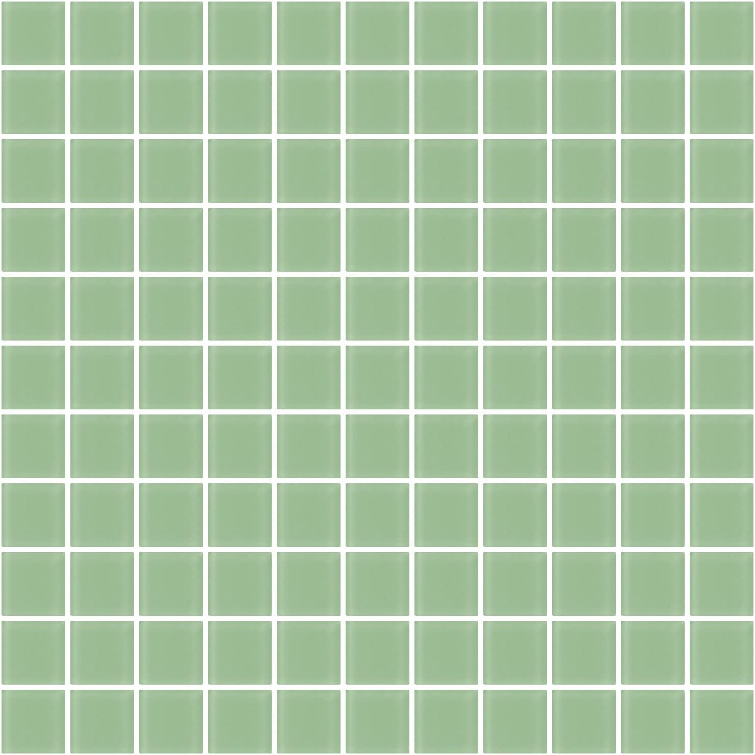1 Inch Opaque Teal Green Glass Tile Susan Jablon Mosaics