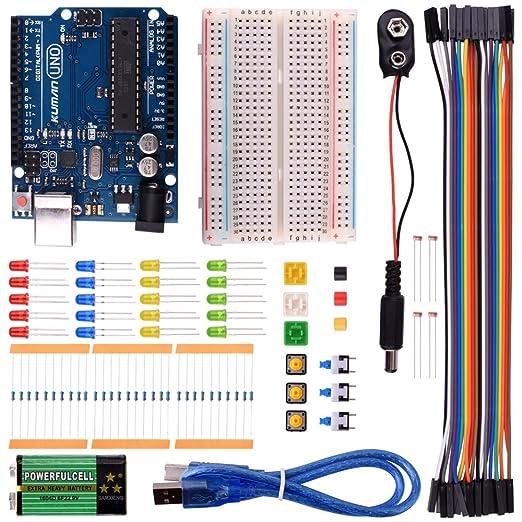 4 opinioni per Kuman K22 l'Iniziatore Di base Kit per Arduino con UNO R3 AVR MCU Mini Bread