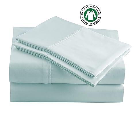 Amazon.com: Juego de sábanas 100% algodón orgánico, puro ...